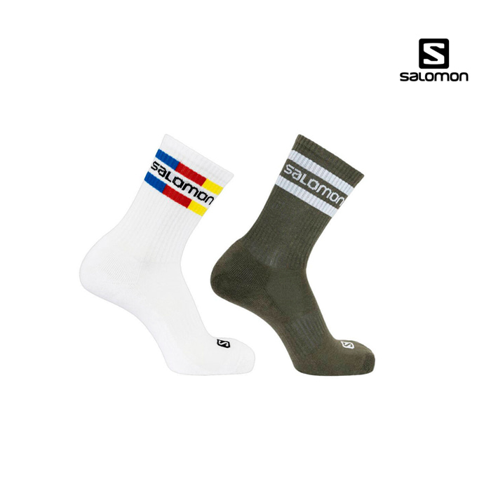 살로몬 20FW 크루 양말 2팩 SALOMON SOCKS SALOMON 365 CREW 2-PACK LC1445600